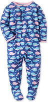 Carter's 1-Pc. Whale-Print Footed Pajamas, Baby Girls (0-24 months)