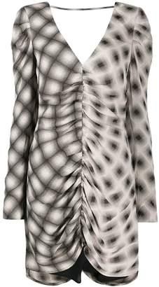 Eckhaus Latta printed draped dress