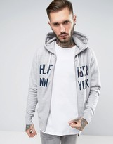 Tommy Hilfiger Hoodie With New York Print In Gray