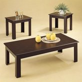 Coaster Home Furnishings 3Pc Black Oak Veneer Occasional Table Set By Coaster