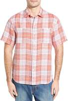 Tommy Bahama Caldera Plaid Regular Fit Linen Sport Shirt