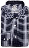 English Laundry Grid-Check Long-Sleeve Dress Shirt, Navy