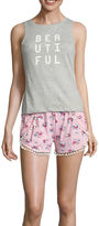 Asstd National Brand Wallflower Shorts Pajama Set-Juniors