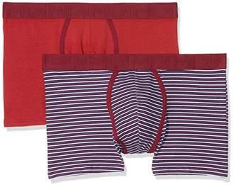 Dim Men's Mix & Fancy Alg. Elast. Color Y Estampado Boxer Shorts, Red Samba/Rayures Rojos 6UG, (Size: 3) (Pack of 2