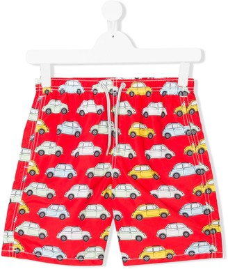 MC2 Saint Barth Kids TEEN car print swim shorts
