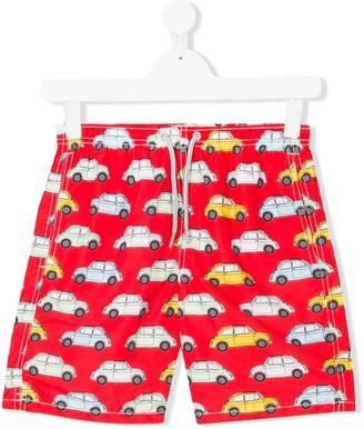 Mc2 Saint Barth Kids TEEN car print swim shorts