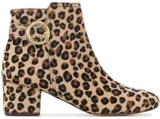 Tila March Leopard Print Ankle Boots