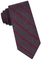 Calvin Klein Silk-Blend Striped Tie