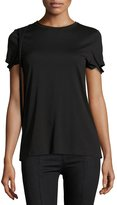 Helmut Lang Strappy Pima Cotton T-Shirt, Black
