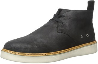 Dr. Scholl's Shoes Men's Tyson Chukka Boot Black Oiled Leather 10.5 M US
