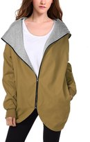WAJAT Women's Casual Zip Up Loose Hooded Quilted Coats Jacket XL