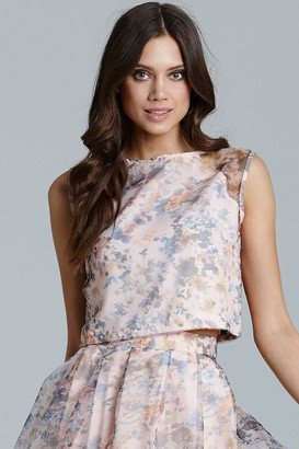 Little Mistress Floral Printed Organza Top