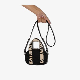 Stella McCartney black logo mini Boston bag