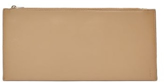 The Row Flat Rectangular Leather Clutch Bag - Tan