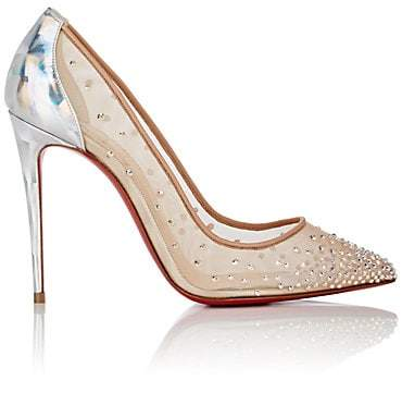 Christian Louboutin Women's Follies Strass Pumps - Version Silver