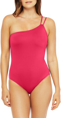 La Blanca Goddess One-Shoulder One-Piece Swimsuit