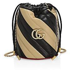 Gucci Women's GG Marmont Leather Bucket Bag