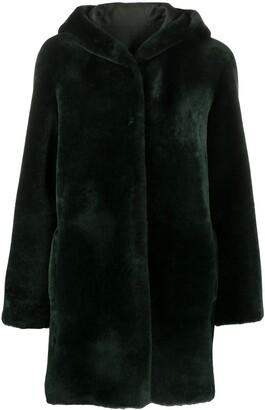 Blancha Hooded Faux Fur Coat