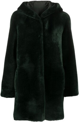 Blancha Hooded Faux Fur Coat