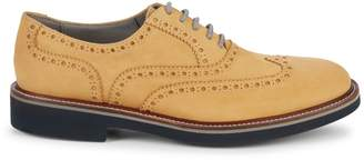 Canali Perforated Suede Oxfords