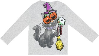 Stella McCartney Kids Halloween Badges cotton top