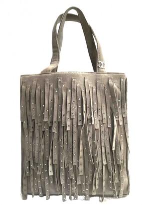 Chanel Grey Suede Clutch bags