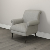 The White Company Draycott Scroll-Back Tweed Chair