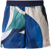 Puma colour block running shorts - women - Cotton/Polyester/Spandex/Elastane - XS