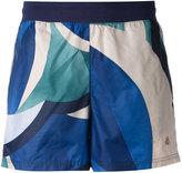 Puma colour block running shorts - women - Polyester/Cotton/Spandex/Elastane - XS