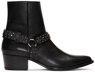Amiri Black Studded Harness Boots