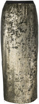 Antonio Marras metallic pencil skirt - women - Polyester/Spandex/Elastane - 42