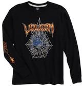 Volcom Boy's Venom Spider T-Shirt