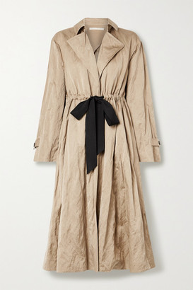 Jason Wu Collection Tie-detailed Washed-sateen Trench Coat - Beige