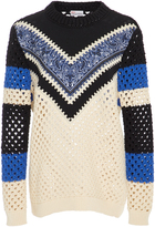 RED Valentino Crochet Embroidered Sweater