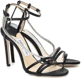 Jimmy Choo Thaia 100 embellished sandals