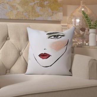 "Vernie MaybellineNY CamoChic Throw Pillow House of Hampton Size: 16"" H x 16"" W x 2"" D"
