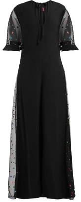 STAUD Anabelles Crepe Jumpsuit - Womens - Black Multi