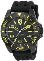 Ferrari Scuderia Men's 'XX Kers' Quartz Stainless Steel and Silicone Casual Watch, Color:Black (Model: 0830307)