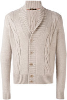 Loro Piana cable knit cardigan - men - Goat Skin/Cashmere - 46
