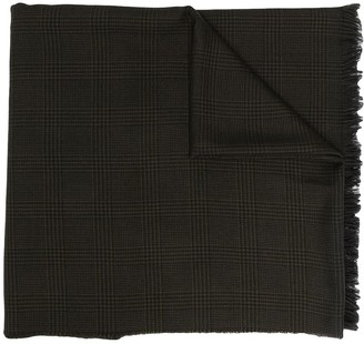 Tom Ford Check-Print Wool Scarf