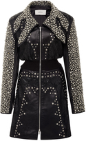 Rodarte Black Lasercut And Studded Leather Jacket