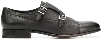 Moreschi double buckle monk shoes