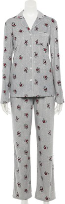 Croft & Barrow Women's Velour Pajama Shirt & Pajama Pants Set