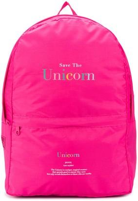 Ireneisgood Save The Unicorn oversized backpack