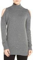 Halogen Cold Shoulder Turtleneck Sweater (Regular & Petite)