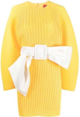 SOLACE London Pleated Long Sleeve Dress