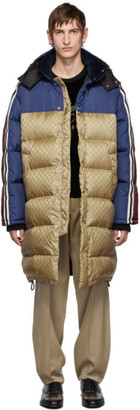 Gucci Multicolor Down GG Nylon Coat