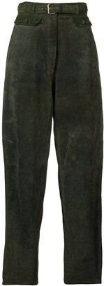 Versace Pre-Owned 1980's Tapered-Leg Trousers