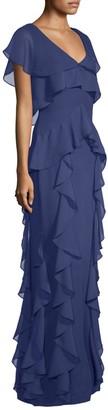 Parker Nia Ruffle Column Gown