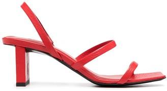 BY FAR Liu block heel sandals